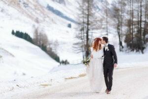Winterhochzeit in Sils, Engadin